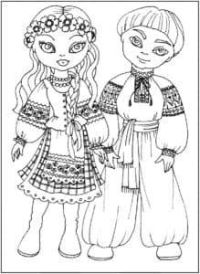 дети в украинских народных костюмах