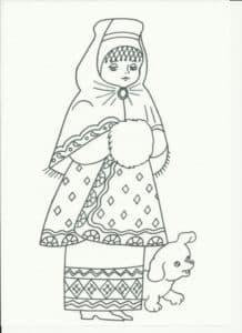 девочка и собачка