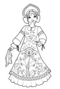девочка танцует с платком