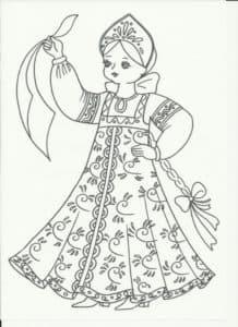 девочка с платком
