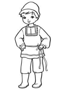мальчик в рубахе
