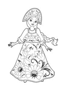 женщина в костюме с цветами