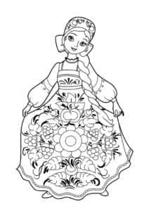 костюм с узорами детская раскраска