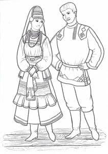принц и принцесса раскраска детская