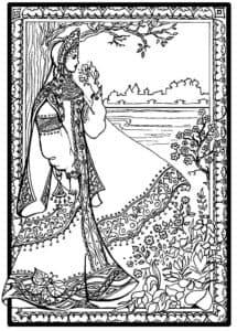 принцесса с узорами