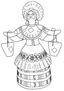 женщина с ведрами