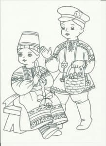 дети в красивых костюмах