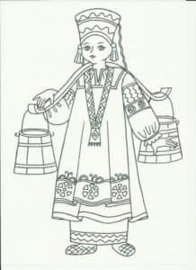 женщина с коромыслом