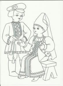мальчик и девочка на табуретке