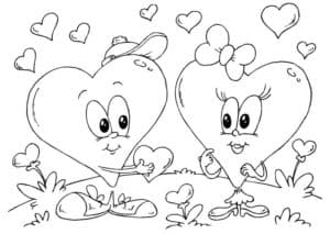 два сердечка