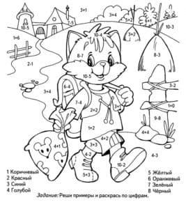 кот раскраска с примерами