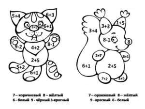 котенок и белочка раскраска с примерами