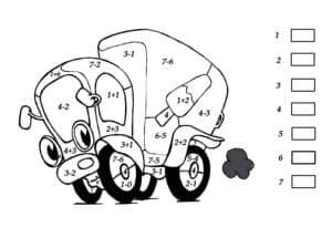 грузовик раскраска с примерами