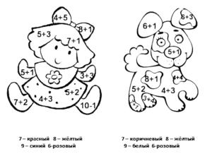 девочка и собачка раскраска с примерами