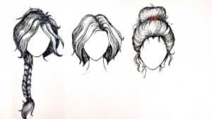 раскраски волосы прически