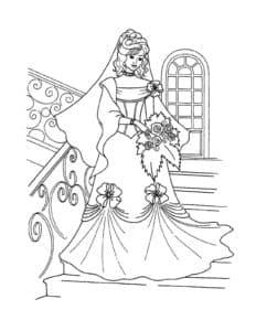 невеста в шикарном платье