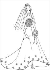 невеста в платье и туфлях