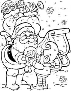 Санта Клаус и ребенок