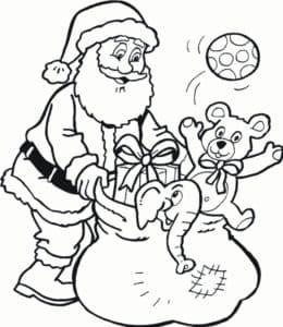Санта Клаус и игрушки
