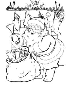 Санта Клаус на рождество
