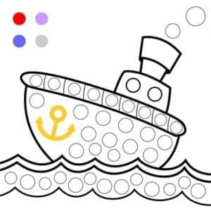кораблик с якорем