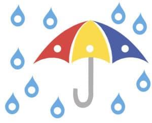 зонт и капли