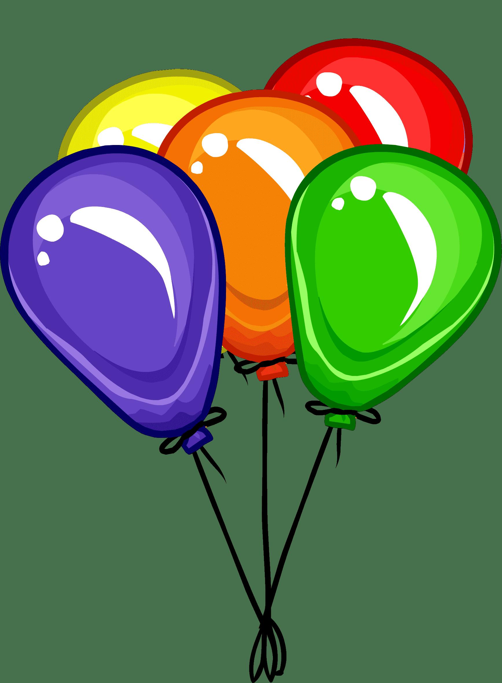 Раскраска Воздушные шарики