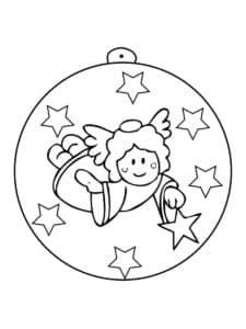 новогодний шар с ангелом
