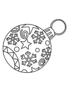 новогодний шар с звездочками и снежинками