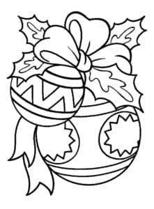 новогодние шары с бантиком