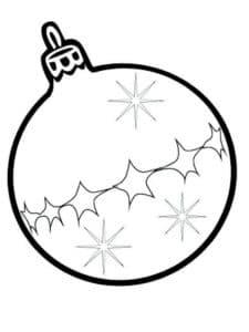 шар на елку с снежинками