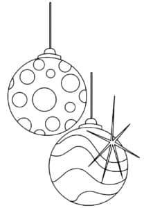 новогодние шары с кружочками