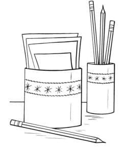 карандаши и листки