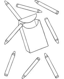 карандаши раскраска детская