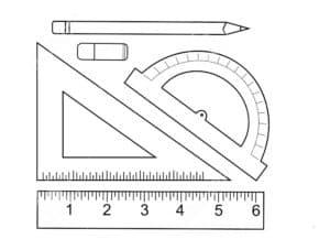 линейка циркуль карандаш