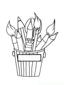 кисточки и карандаши