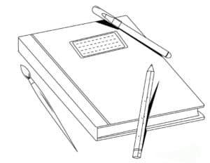 тетрадь и ручки