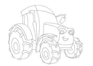 синий трактор раскраска для мальчиков
