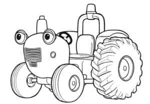 синий трактор раскраска детская