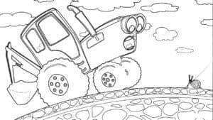 синий трактор и маленькая улитка