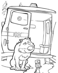 Волк и Маша из мультфильма