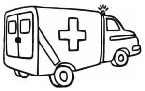 карета скорой помощи с крестами