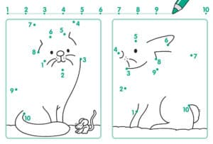 раскраска точки по цифрам для ребенка