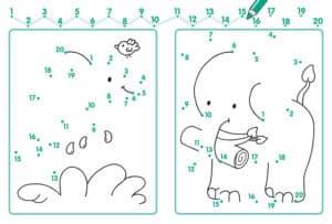 картинка соедини номера с слоном