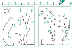 картинка волк соедини точки
