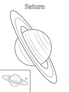 Сатурн раскраска детская