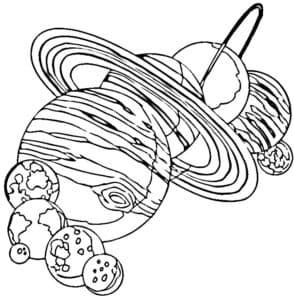 Большие планеты раскраска