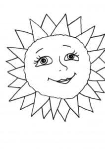 солнышко с глазами