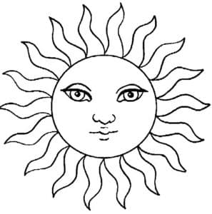 красивое солнышко