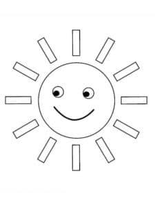 солнце и прямоугольники
